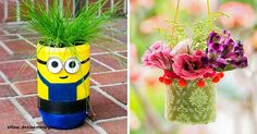 10 creative ways to make beautiful flowerpots from ordinary plastic bottles Crafts For Kids, Arts And Crafts, Diy Crafts, Recycled Crafts, Craft Projects, Projects To Try, Recycling Projects, Craft Ideas, Diy Ideas