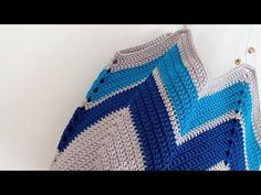 Crochet Bikini, Crochet Top, Mochila Crochet, Chevron, Crochet Videos, Crochet Patterns, Make It Yourself, Embroidery, Blanket
