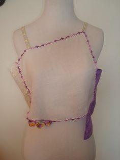 Purple/Flower/Lacy/Circle/Handkerchief Tank