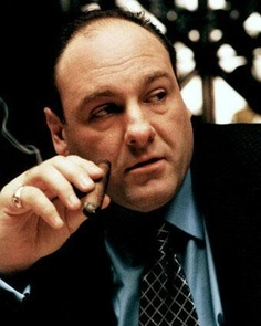 James Gondolfini played Tony Soprano in The Sopranos. I so will marry him in another life. Now this is what a real man looks like!