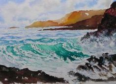 Painting Seascapes in water colour tutorial and tips