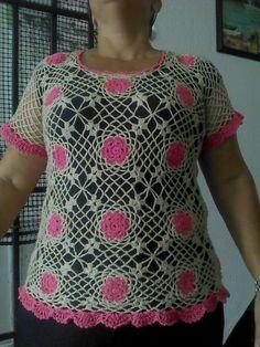 Crochet Tops, Women, Fashion, Crocheting, Tejidos, Moda, Fashion Styles, Fashion Illustrations, Woman