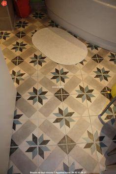 Carrelage carreau aspect ciment d cor guell saint maclou for Carrelage ancien cuisine