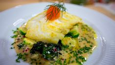 Foto: Mads Tørklep / NRK Roasted Cod, Laksa, Food To Make, Chicken, Breakfast, Recipes, Morning Coffee, Food Recipes, Rezepte