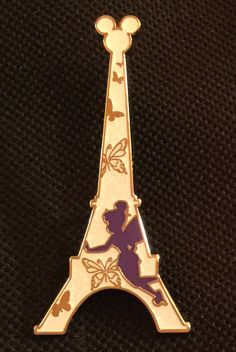 Disney Trading Pin - Tinker Bell - Disneyland Paris - Eiffel Tower collection.