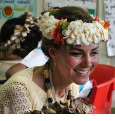 Catherine in Tuvalu, Southeast Asia Tour, 2012 Famous Princesses, Real Life Princesses, Prince William And Kate, William Kate, Princess Kate, Princess Charlotte, Duchess Kate, Duke And Duchess, Baby George