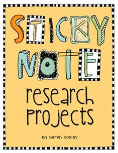 Doing research papers with your students will be organized and SO easy with these themed sticky note planning pages!  My first graders were guided ...