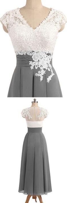 Long Grey Bridesmaid Dresses, Grey Bridesmaid Dresses, Long Bridesmaid Dresses, A Line dresses, Dresses On Sale, Floor Length Dresses, Long Grey dresses, Zipper Bridesmaid Dresses, Applique Bridesmaid Dresses, Floor-length Bridesmaid Dresses, A-line/Princess Bridesmaid Dresses