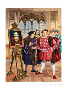 Henry VIII and Anne of Cleves (Original) art by British History (Peter Jackson) at The Illustration Art Gallery History Of England, Tudor History, European History, British History, History Medieval, Haunted History, Asian History, Medieval Art, Ana De Cleves