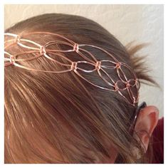 Your place to buy and sell all things handmade Macrame Headband, Crown Headband, Designer Jewelry, Jewelry Design, Absolutely Stunning, Beautiful, Secret Sale, September 2014, Copper Wire