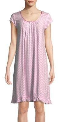 Miss Elaine Floral Pleated Nightgown