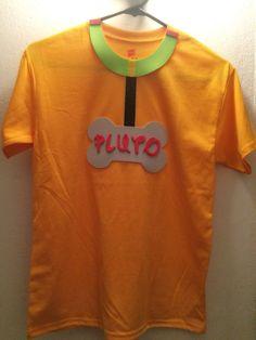 Make it a cuter shirt/tank Mickey Halloween Party, Disney Halloween Shirts, Disney Shirts For Family, Halloween Party Costumes, Halloween Queen, Halloween 2016, Halloween Stuff, Scary Halloween, Pluto Costume