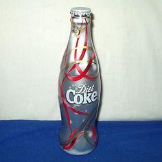 Coca Cola Diet Coke Bottle Glass Christmas 2006 Ribbons Design UK