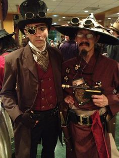 Men's Steampunk attire isn't just for Halloween, although it is a great costume…