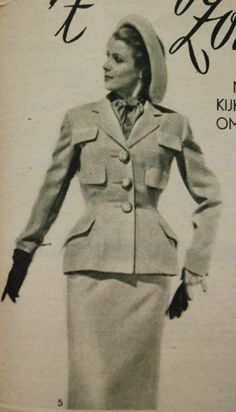 suit with six pockets, Margriet 1950