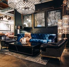 Glam up your home this festive season with the sumptuous Serpentine sofa in rich Revival Velvet Navy. Masculine Living Rooms, Glam Living Room, Living Room Seating, Living Room Decor, Masculine Room, Luxury Home Decor, Luxury Homes, Restauration Hardware, Design Lounge