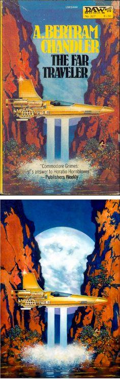 DON MAITZ - The Far Traveler by A. Bertram Chandler - 1979 DAW Books - cover by isfdb - print by comicartfans