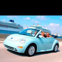 A Slug Bug Convertable Live This Car Blue Beetle Volkswagen
