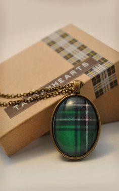 Green Tartan pendant