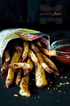 Masala Fries - for low FODMAP use yellow potato or limit portion size