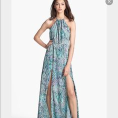 Lovers and friends snake print maxi dress Worn once and in great condition!! Size M Lovers + Friends Dresses Maxi