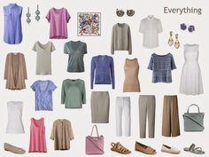 Capsule Wardrobe Project 333: Combining 2 Color Schemes from the Capri Scarf