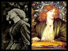 Fanny Cornforth in The Blue Bower 1865 by D.G Rossetti