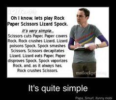 Rock paper scissors lizard Spock.