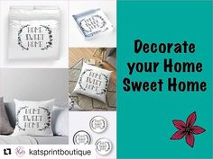 #Repost @katsprintboutique (@get_repost)  Decorate your Home Sweet Home with Kat's Print Boutique home decor! Click the link in the bio to shop. . . . . . . . . . . . . . . . #DesignoftheWeek #homesweethome #home #decor #decorate #homedecor #entrepreneur #entrepreneurship #startup #ptbo #create #creativity #art #artist #shop #shoplocal #local #localbusiness #businesswoman #bossbabe #bosslady #girlboss #pillows #bedding #throwpillow #duvet #floral #flowers #clock - Architecture and Home Decor…