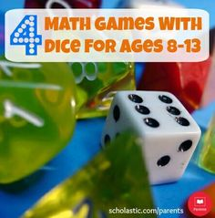 5 dice games that help kids practice math facts, and develop a stronger understanding of whole numbers, fractions, and decimals.