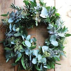Foliage Wreath Tutorial — a quiet styleYou can find Wreath tutorial and more on our website.Foliage Wreath Tutorial — a quiet style Xmas Wreaths, Door Wreaths, Christmas Decorations, Holiday Decor, Winter Wreaths, Spring Wreaths, Summer Wreath, Ribbon Wreaths, Holiday Style