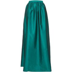TOPSHOP Green Full Satin Maxi Skirt ($70) ❤ liked on Polyvore featuring skirts, topshop, bottoms, green, long green skirt, satin skirt, topshop skirt and blue maxi skirt