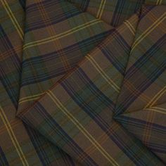 Italian Navy And Green Checked Polyester Viscose Dressmaking Fabric   Ditto fabrics Online Shop