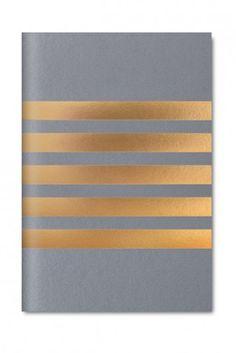 Studio Sarah London Pocket Stripe Notebook - Grey – Home Apparel