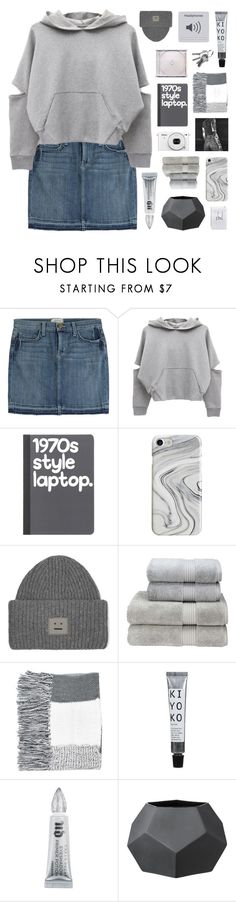 """""""~dying for something real /7/"""" by emmas-fashion-diary ❤ liked on Polyvore featuring Current/Elliott, Nikon, Recover, Acne Studios, Christy, Topshop, Urban Decay and Bloomingville"""