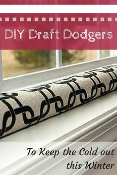 These DIY draft dodger projects are too cool! Make one now to keep out the cold this winter.