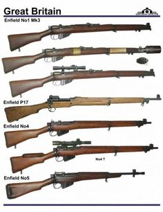 SMLE Lee Enfield rifle development, one of the best infantry weapon in the world, first introduced in 1890 as the Lee Metford Rifle Enfield No 1 Mk Enfield P Military Surplus, Military Weapons, Ww2 Weapons, Battle Rifle, Bolt Action Rifle, Assault Rifle, Cool Guns, Guns And Ammo, Airsoft