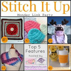 Featured on Stitch It Up Link Party #4 | hosted by The Hooked Haberdasher & The Purple Poncho