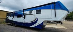 Elite style paint scheme on a Luxe 48FB Toy Hauler Luxury Fifth Wheel, Fifth Wheel Toy Haulers, Paint Schemes, Recreational Vehicles, Toys, Building, Wheels, Painting, Style