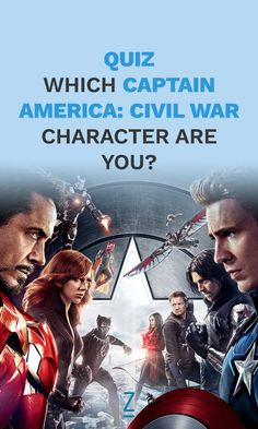 Which 'Captain America: Civil War' Character Are You? Quizzes For Kids, Fun Quizzes To Take, Cool Quizzes, Random Quizzes, Avengers Quiz, Avengers Actors, Civil War Characters, Dc Characters, Zimbio Quizzes