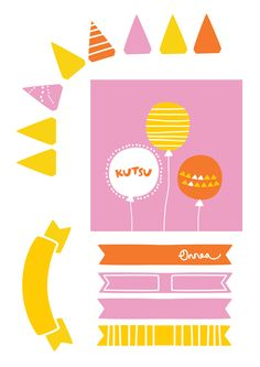 Free printable pattern | lasten | lapset | askartelu | syntymäpäivät | kuppikakku | muffinssi | koriste | tulostettava | paperi | koti | leikki | DIY ideas | kids | cupcake | topper | children | crafts | home | paper | cardboard | Pikku Kakkonen