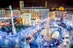 This is our square. Lecce in Christmas time Italy Location, Gulliver's Travels, 7 Continents, Family Travel, Christmas Time, Cool Photos, Times Square, This Is Us, Mansions