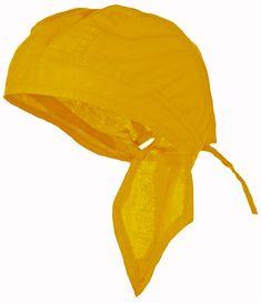 6aa75d0c43f Golden Yellow Doo-Rag Skull Cap Solid Du-Bandana Motorcycle Helmet Liner  Chemo Head-Scarf