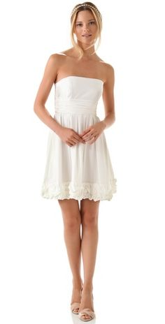 Bridal Shower dress? Michelle Strapless Dress by Thread @Shopbop, you could put a very slight pale yellow petty coat underneath to give it some movement