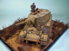 Panzerkampfwagen 754(r) KW-2 by Christos Athanasiou