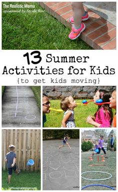 13 Fun &  Active Summer Activities for Kids