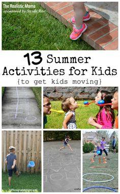 13 Fun &  Active Summer Activities for Kids