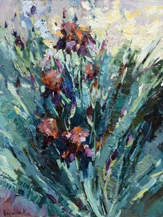 Buy Irises floral painting, Oil painting by Anastasiya Valiulina on Artfinder. Discover thousands of other original paintings, prints, sculptures and photography from independent artists.
