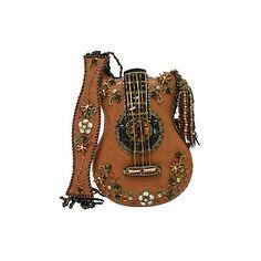 Hall of Fame Mary Frances Designer Handbag ($255) ❤ liked on Polyvore featuring bags, handbags, cognac purse, chain strap handbag, leather handbags, cognac leather handbags and beaded handbags