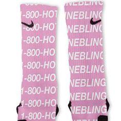 Drake Hotline Bling Custom Nike Elite Socks #inexpensivedesignerfashion